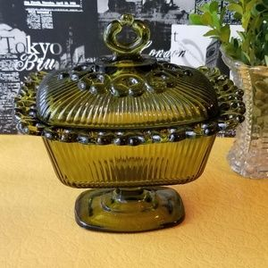 Lace Edge Candy Dish with Lid